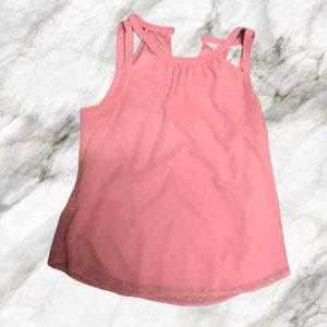Blush Pink Heart Pattern Tank Top - Size L